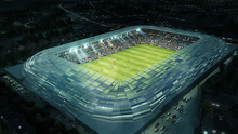 A computer generated image of the proposed redevelopment of the ground