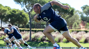 Striding on: Rory Best sprints in training