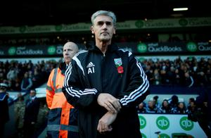 West Bromwich Albion manager Alan Irvine during the Barclays Premier League match at the Hawthorns, West Bromwich. David Davies/PA Wire.