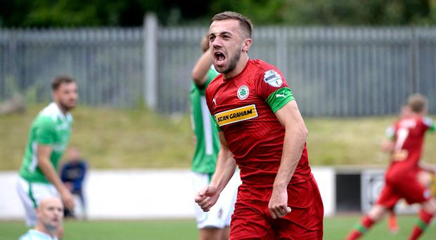 Upward trajectory: Conor McMenamin has been shining for Cliftonville
