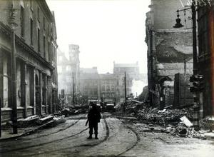 WORLD WAR II: BELFAST AIR RAIDS.BRIDGE STREET. 4/5 May 1941. Bridge Street from North Street. AR 32