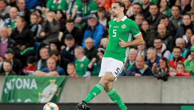 Ciaran Brown makes his debut for Northern Ireland in a friendly against Luxembourg.