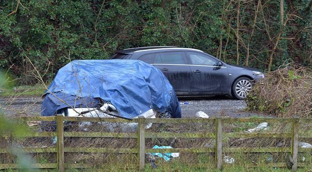 The scene of the crash on the Tandragee Road. Credit: Alan Lewis