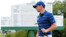 Rory McIlroy bogeyed both of his final two holes to finish his first round at the Masters one over par.
