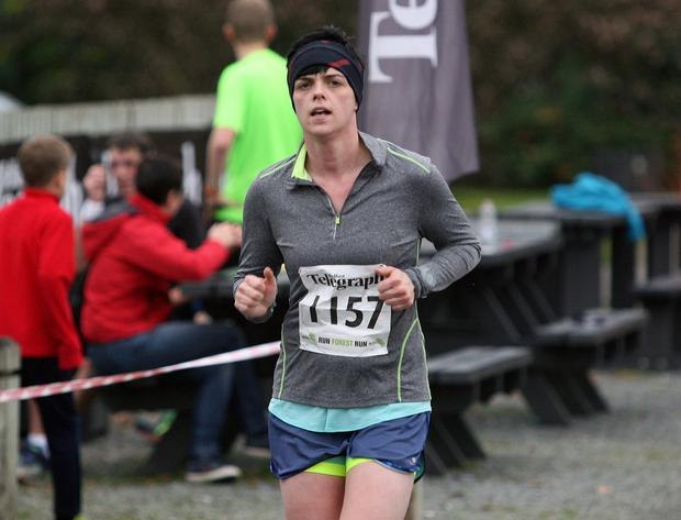 Mandatory Credit - Picture by Freddie Parkinson/Press Eye © Saturday 3rd December 2016 Belfast Telegraph Run Forest Run Loughgall. Loughgall Country Park, 11-14 Main Street, Loughgall, Armagh.  Olivia Godfrey 10K Belfast