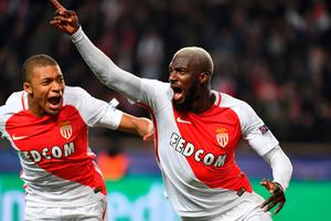 Monaco's French midfielder Tiemoue Bakayoko (R) is reportedly a target for Chelsea.