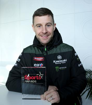 Jonathan Rea accepting our Sports Star of the Year Award