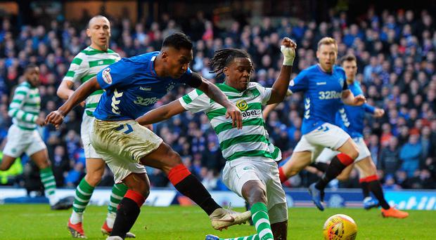 Bright spark: Alfredo Morelos has shone for Gers but is yet to net against Celtic