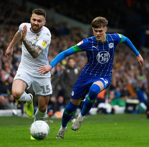 Going up: Stuart Dallas in action for Leeds