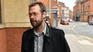 Ex-Kasabian singer Tom Meighan arrives at Leicester Magistrates' Court (Jacob King/PA)