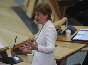 First Minister Nicola Sturgeon delivering a statement on Covid-19 (Fraser Bremner /Scottish Daily Mail/PA)