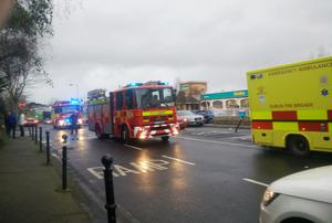 Marty Curran handout photo of emergency services outside the Regency Hotel in Dublin as one man died and two others were injured following a shooting incident at the hotel. PRESS ASSOCIATION Photo. Picture date: Friday February 5, 2016. The attack happened while a boxing tournament weigh-in was going on at the hotel on Swords Road, around three kilometres north of the city centre. See PA story POLICE Shooting. Photo credit should read: Marty Curran/PA Wire  NOTE TO EDITORS: This handout photo may only be used in for editorial reporting purposes for the contemporaneous illustration of events, things or the people in the image or facts mentioned in the caption. Reuse of the picture may require further permission from the copyright holder.