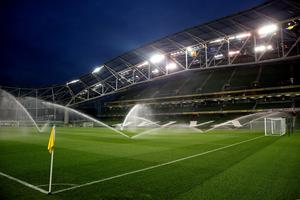 DUBLIN, IRELAND - NOVEMBER 16:  A general view of the stadium prior to kickoff during the UEFA EURO 2016 Qualifier play off, second leg match between Republic of Ireland and Bosnia and Herzegovina at the Aviva Stadium on November 16, 2015 in Dublin, Ireland.  (Photo by Ian Walton/Getty Images)