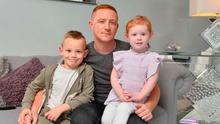 Family worries: Stephen McAlorum at home with his son Connlaoi and daughter Fiadh, who has cystic fibrosis