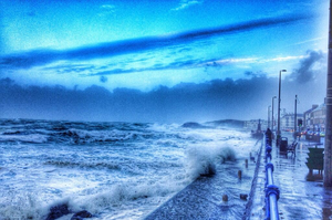 Huge waves at the promenade in Portstewart, as pictured by Darron Mark of Bowline Images