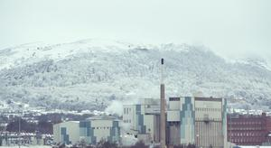 Snow falls over Belfast. Picture Colm O'Reilly