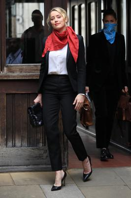Amber Heard arrives at the High Court in London (Aaron Chown/PA)
