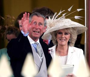 Charles and Camilla on their wedding day (Tum Ockenden/PA)