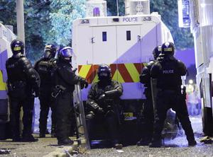 Violence broke out in the Woodvale area of Belfast after the Parades Commission ruled that marchers were not allowed to return along the part of the Crumlin Road at Ardoyne shops that separates nationalist and loyalist communities