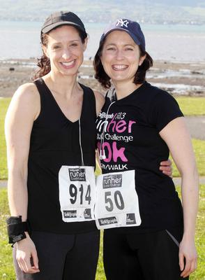 Northern Ireland-  23rd May 2013 Mandatory Credit - Photo-Jonathan Porter/Presseye.  Belfast telegraph Runher Coastal Challenge 10k from Seapark to Crawfordsburn Park in Co. Down.   Left to right.  Adrienne Perry and Karen Batley from Belfast.