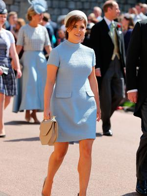 Princess Eugenie arrives at St George's Chapel at Windsor Castle for the wedding of Meghan Markle and Prince Harry. PRESS ASSOCIATION Photo. Picture date: Saturday May 19, 2018. See PA story ROYAL Wedding. Photo credit should read: Gareth Fuller/PA Wire