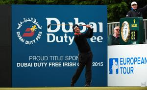 NEWCASTLE, NORTHERN IRELAND - MAY 30:  John Parry of England tees off on the 1st hole during the Third Round of the Dubai Duty Free Irish Open Hosted by the Rory Foundation at Royal County Down Golf Club on May 30, 2015 in Newcastle, Northern Ireland.  (Photo by Ross Kinnaird/Getty Images)