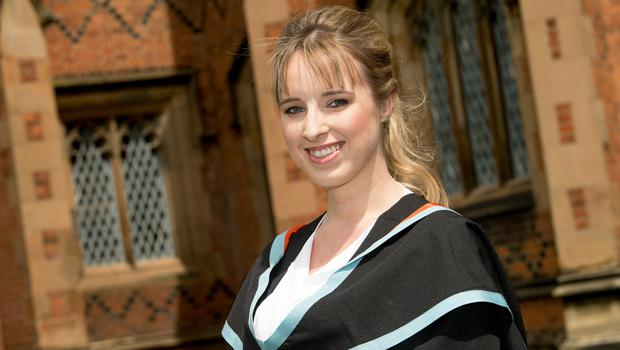 Michelle Moreland graduated for the third time today at Queen's University Belfast.