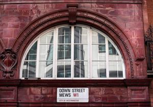 LONDON, ENGLAND - APRIL 13:  A view of the outside of the disused 'Down Street' underground station on April 13, 2016 in London, England. London Transport Museum will be giving tours as part of their new 'Hidden London' season beginning May 7, 2016. Down Street station in Mayfair operated between 1907 and 1932 and after closing, played an important part during the Second World War when it was transformed into the Railway Executive Committee's bomb proof shelter. During the height of the Blitz, British Prime Minister Winston Churchill took refuge in the station tunnels.  (Photo by Dan Kitwood/Getty Images)