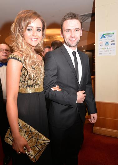 William Dunlop and his partner Janine arrive at the Adelaide Motorcycle Awards in Belfast in 2014. PICTURE BY STEPHEN DAVISON PACEMAKER, BELFAST, 17/1/2014.