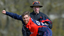 On fire: Waringstown bowler Gary Kidd had the best figures in the NCU Premier League this season