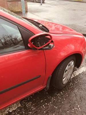 Several cars were damaged overnight on Monday