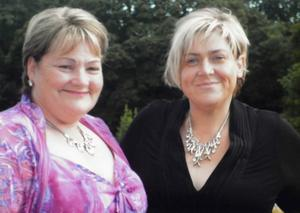Anne-Marie (right) with Colleen