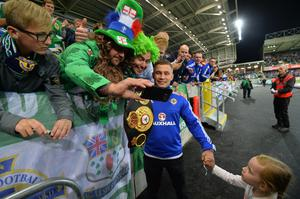 PACEMAKER BELFAST  08/10/2016 Northern Ireland v San Marino World Cup qualifier Group C The official opening of the National Stadium this evening Carl Frampton pictured Photo Colm Lenaghan/Pacemaker Press