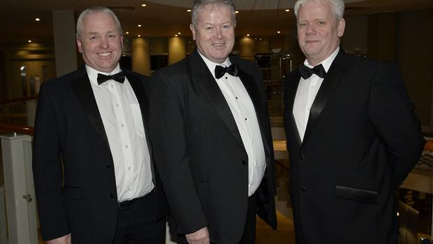 Press Eye - Belfast - Northern Ireland - 20th January  2020  Maurice Mayne, Cathal ONeill and Seamus McGrath pictured at the 2019 Belfast Telegraph Sport Awards at the Crowne Plaza Hotel in Belfast. Photo by Stephen Hamilton / Press Eye.