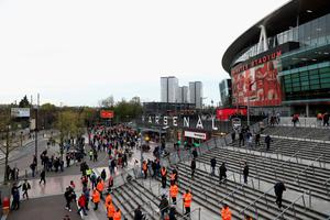 LONDON, ENGLAND - APRIL 21:  A general view outside the stadium prior to the Barclays Premier League match between Arsenal and West Bromwich Albion at the Emirates Stadium on April 21, 2016 in London, England.  (Photo by Paul Gilham/Getty Images)