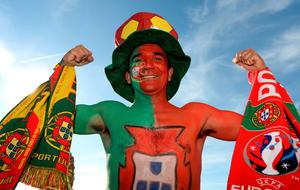 A Portugal supporter bef