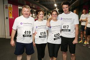 Press Eye - Belfast -  Northern Ireland - 24th June 2015 -  South West College runners at the first ever Grant Thornton Runway Run at Belfast City Airport this evening. Picture by Kelvin Boyes / Press Eye.
