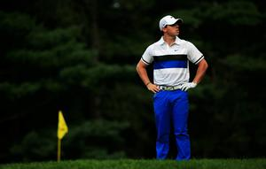 ROCHESTER, NY - AUGUST 08:  Rory McIlroy of Northern Ireland waits to play on the 12th green during the first round of the 95th PGA Championship on August 8, 2013 in Rochester, New York.  (Photo by Sam Greenwood/Getty Images)