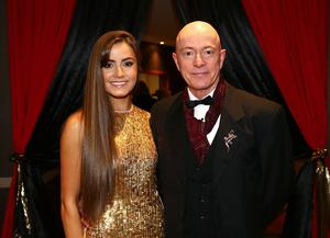 Peter Spratt with his daughter Lucy pictured at the Belfast Telegraph Sports Awards sponsored by Linwoods 2015 at the Ramada Hotel, Belfast.