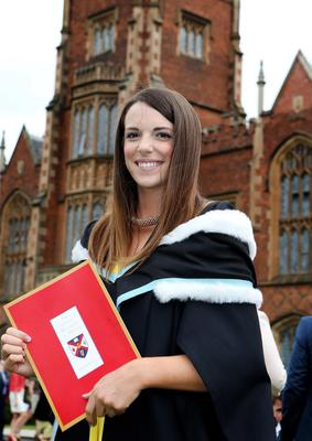 Catherine Power from Newtownards graduated with a BA in Early Childhood Studies at Queen's University and is continuing her studies with a PGCE in Liverpool in September.