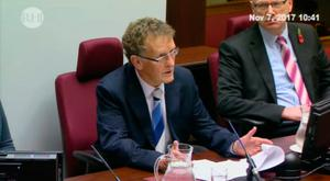 Sir Patrick Coghlin addressing the opening of the inquiry