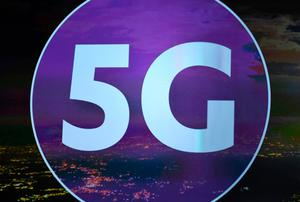 LAS VEGAS, NV - JANUARY 05:  A 5G sign is shown on screen during a keynote address by President and CEO of the Consumer Technology Association Gary Shapiro at CES 2017 at The Venetian Las Vegas on January 5, 2017 in Las Vegas, Nevada. CES, the world's largest annual consumer technology trade show, runs through January 8 and features 3,800 exhibitors showing off their latest products and services to more than 165,000 attendees.  (Photo by Ethan Miller/Getty Images)