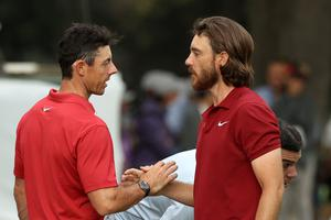 Rory McIlroy and Tommy Fleetwood were team-mates at the 2018 Ryder Cup.