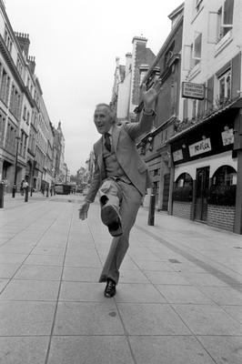 Bruce Forsyth dancing in a West End street where he announced he is to star in a new musical, The Bricusse and Newley Travelling Music Show. PA/PA Wire
