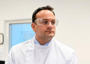 Taoiseach Leo Varadkar during a visit to the UCD National Virus Reference Laboratory, University College Dublin, in Belfield, Dublin. Photo credit: Aidan Crawley/PA Wire