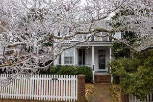SUMMERVILLE, SC - FEBRUARY 12:  A tree is coated in ice outside a home after a rare winter ice storm swept across the South February 12, 2014 in Summerville, South Carolina. More than 400,000 customers have lost power across the Southeast and at least 13 deaths caused by the storm.  (Photo by Richard Ellis/Getty Images)