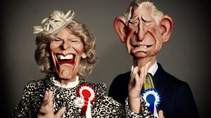 Camilla and Charles in the new series of Spitting Image (Mark Harrison/BritBox/Avalon/PA)