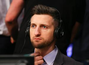 Carl Froch pictured at the Manchester Arena as they prepare to watch Carl Frampton and Scott Quigg during Saturday nights World Super-Bantamweight unification clash.