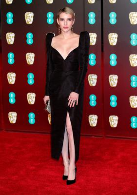 Emma Roberts attending the EE British Academy Film Awards held at the Royal Albert Hall, Kensington Gore, Kensington, London.  PRESS ASSOCIATION Photo. Picture date: Sunday February 18, 2018. See PA Story SHOWBIZ Bafta. Photo credit should read: Yui Mok/PA Wire.