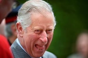 Prince Charles, Prince of Wales laughs as he visits Mount Stewart on May 22, 2015 in Newtownards, Northern Ireland. Prince Charles, Prince of Wales and Camilla, Duchess of Cornwall visited Mount Stewart House and Gardens and Northern Ireland's oldest peace and reconciliation centre Corrymeela on the final day of their visit of Ireland.  (Photo by Jeff J Mitchell/Getty Images)